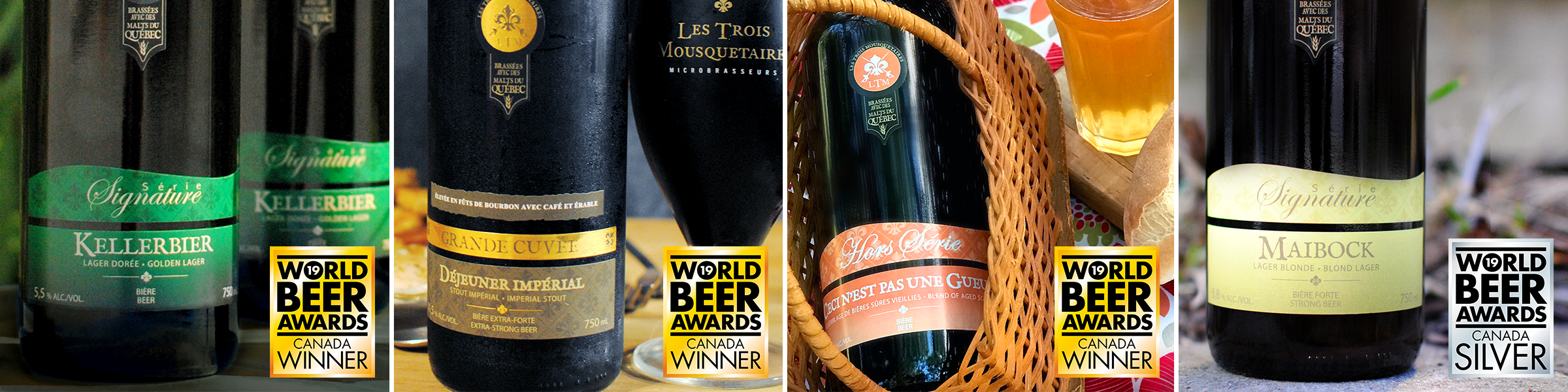 Nos bières médaillées au World Beer Award!